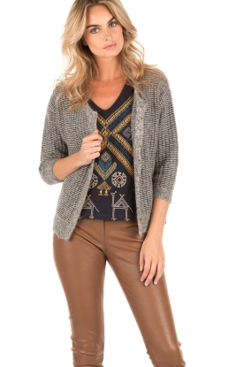 Knitted cardigan Mug | grey