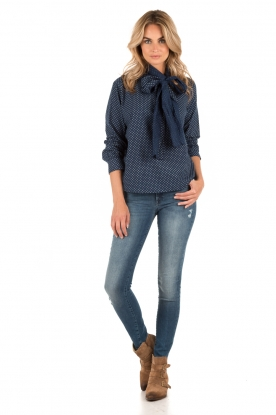 Bow-tie blouse Camille | blue
