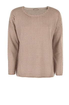 Hemisphere |  Cashmere sweater Bibi | natural/brown