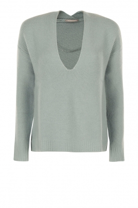 Hemisphere |  Knitted sweater Simmi | light blue