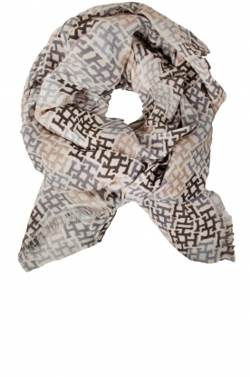 Cashmere scarf Ombre | print