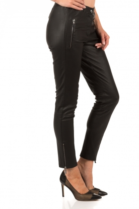 Lamb leather pants Cadiz Stretch Plonge | black