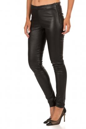 Lamb leather stretch leggings Roche | black