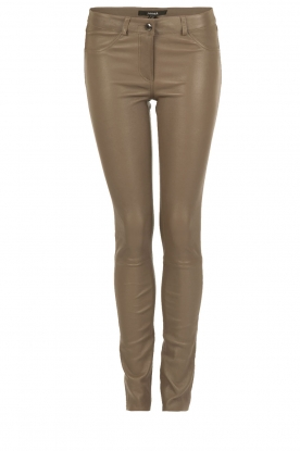 Arma | Lamb leather stretch pants Brandice | taupe