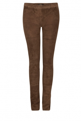 Su�de stretch pants Zonne | brown