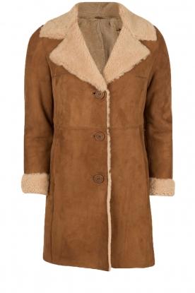 Suède lammy coat Manja | bruin