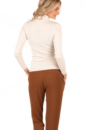 Rosemunde | Zijden turtleneck top Belle | naturel