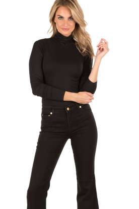 Rosemunde | Turtleneck top Blondie | zwart
