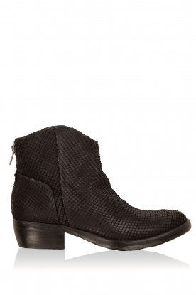 Catarina Martins |  Leather ankle boots Roger Python | black