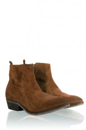 Suede ankle boots Olsen Vesuvio   tabacco brown