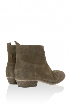 Suede ankle boots Olsen Vesuvio | moss-green
