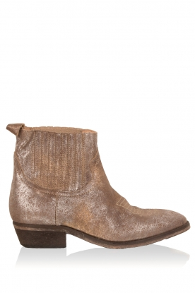 Catarina Martins |  Leather ankle boots Olsen Claudia | metallic brown