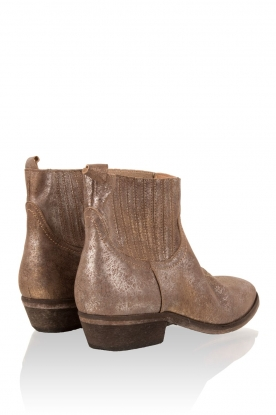 Leather ankle boots Olsen Claudia | metallic brown