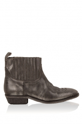 Catarina Martins |  Leather ankle boots Olsen Jamaica | silver