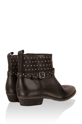 Leather ankle boots Olsen Crust | black