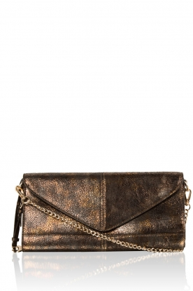 Noe |  Leather clutch Nia |  bronze