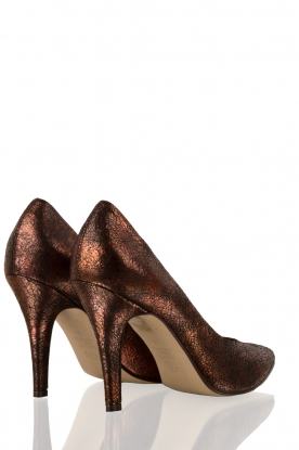 Leather pumps Nicole | bronze