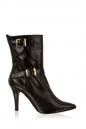 Noe | Leren laarzen Nicole | zwart
