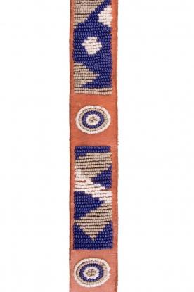 Leather belt Charu | blue