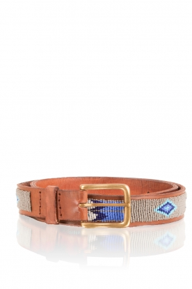 Leather belt Feather | grey