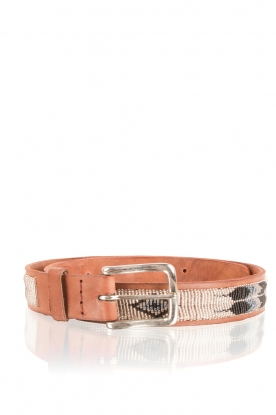 Aspiga |  Leather belt Feather | silver