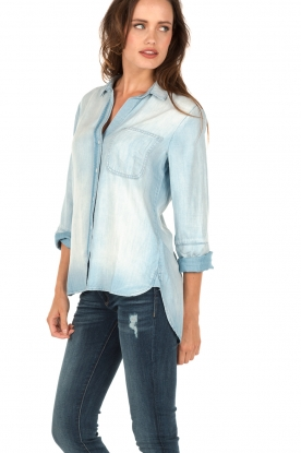 Bella Dahl | Denim blouse Evy | blauw