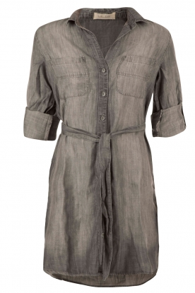 Denim blouse dress Tail | grey