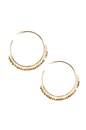 Close to Zen |  22ct plated earrings Circle of Dots | gold