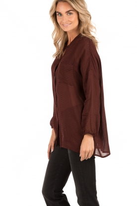 Blouse Axiroad | burgundy red