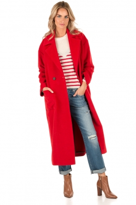 Long-length coat Chicago | red