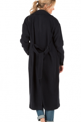 Long-length coat Chicago | navy blue