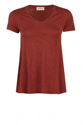 American Vintage | T-shirt Jacksonville | bordeaux