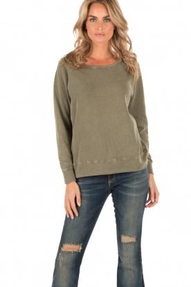 American Vintage | Sweater Jaguar | groen