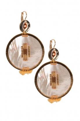 Satellite Paris | 14k verguld gouden oorbellen Maxim | Goud