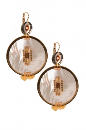 144 gilded gold earrings Maxim | Gold