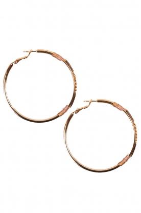 14k gilded gold earrings Naima | Brown