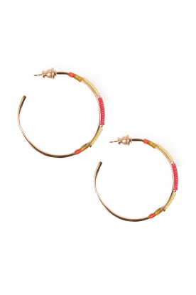 14k gilded gold earrings Gloria | Pink