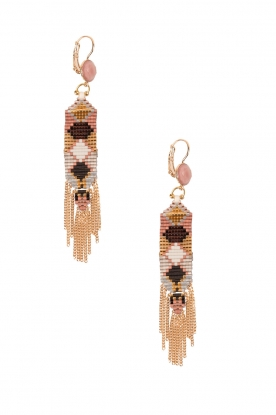 Satellite Paris |  14k gilded gold earrings Valerie | purple