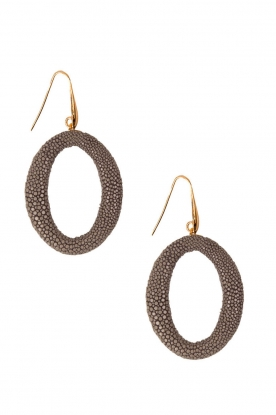 Earrings Stingray Hoops | steel grey