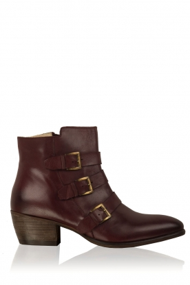 Maluo |  Leather ankle boots Fardau | bordeaux