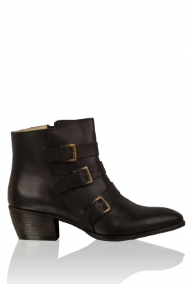 Maluo |  Leather ankle boots Fardau | black
