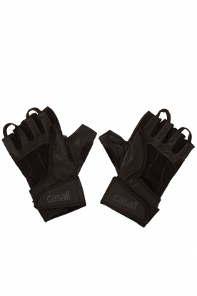 Casall |  Leather Exercise gloves HLS | black