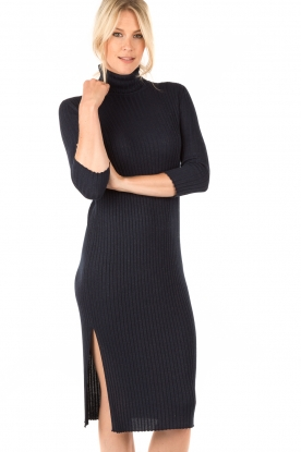 Ribbed turtleneck dress Notte | dark blue