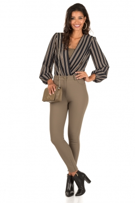 High waist stretchbroek Romolo | groen