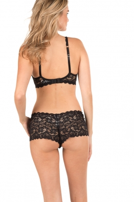 Lace bra soft-cup moments | black