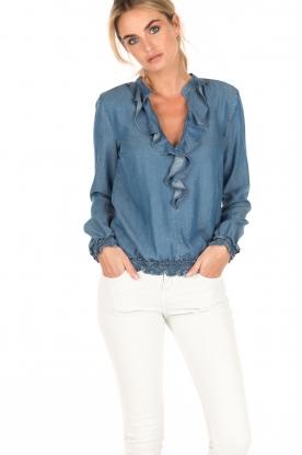 Patrizia Pepe | Blouse Camicia | blauw