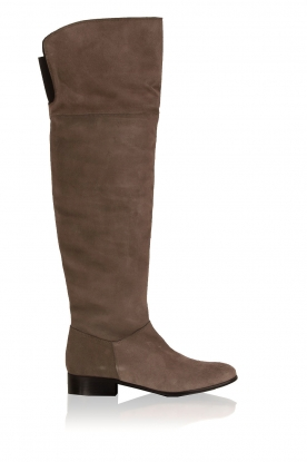 Maluo |  Suede over-the-knee boots Isa | grey