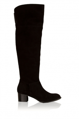 Maluo |  Suede over-the-knee boot Leti  | black
