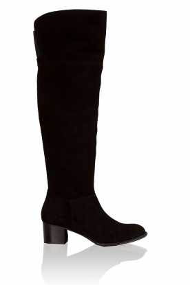 Suede over-the-knee boot Leti  | black