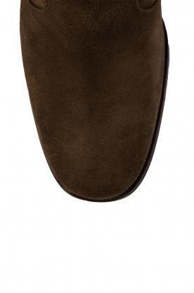 Maluo | Suede laarzen Serafina | groen